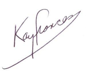 Kay's signature