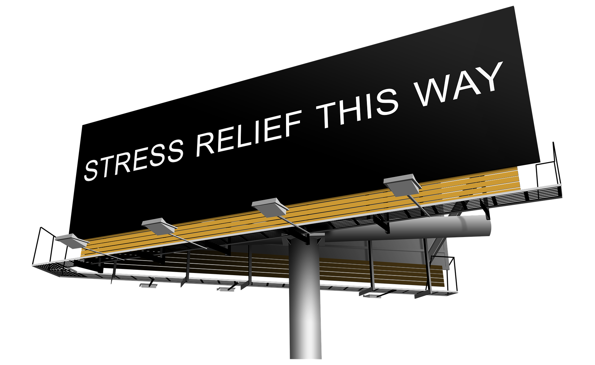 Billboard:Relief Stress This Way